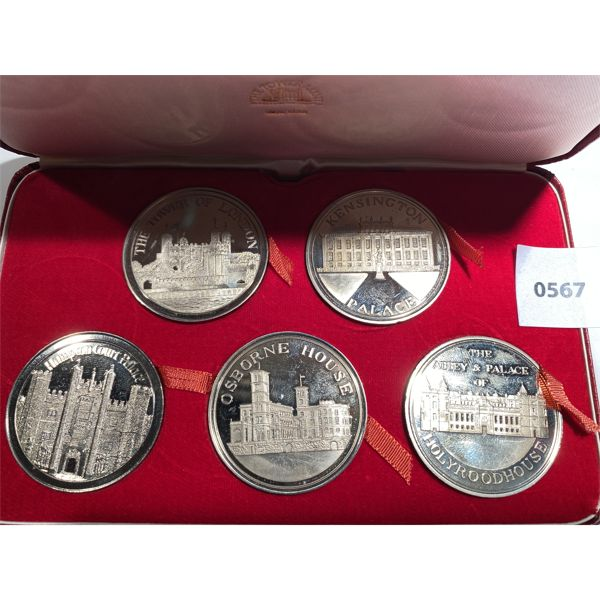 BRITISH PROOF SET - 5 X SILVER JUBILEE COLLECTIBLE COINS