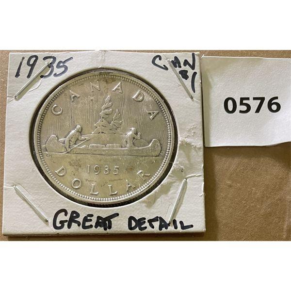 1935 CDN SILVER DOLLAR