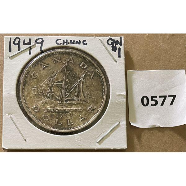 1949 (UNC) CDN SILVER DOLLAR