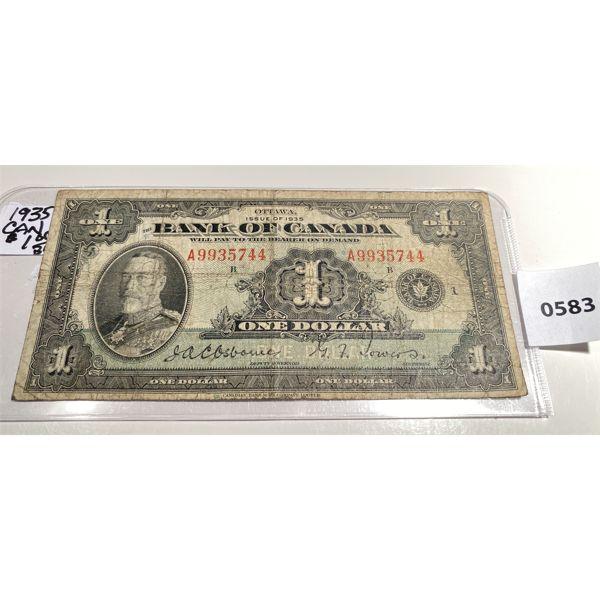 1935 BANK OF CANADA ONE DOLLAR BILL