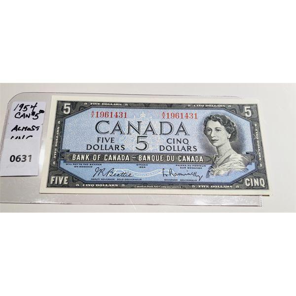 1954 CND FIVE DOLLAR BILL