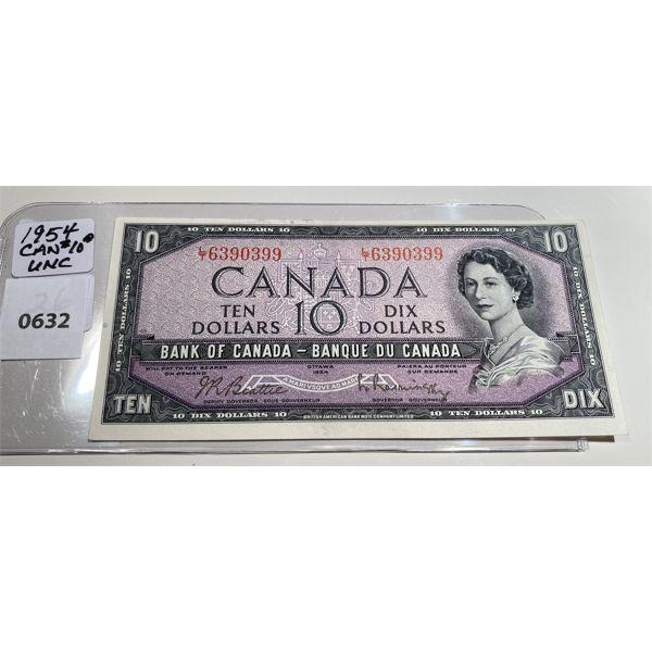 1954 CND TEN DOLLAR BILL