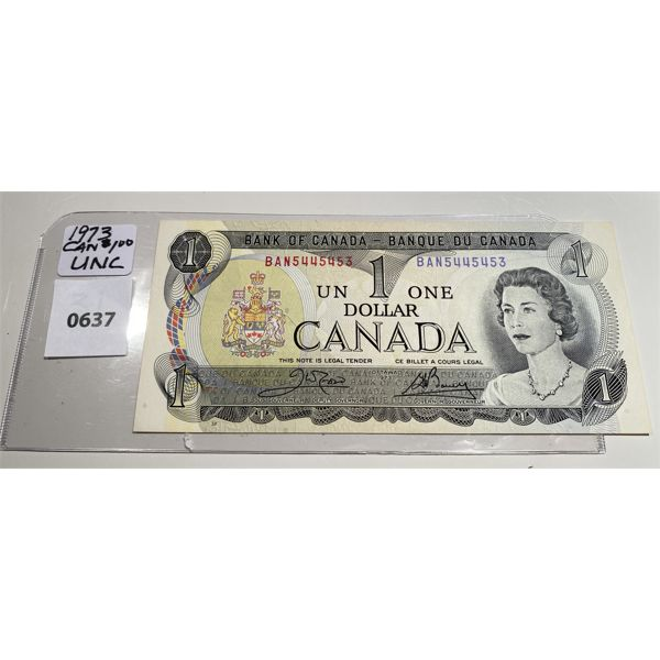 1973 CND ONE DOLLAR BILLS - S/N IN SEQUENCE