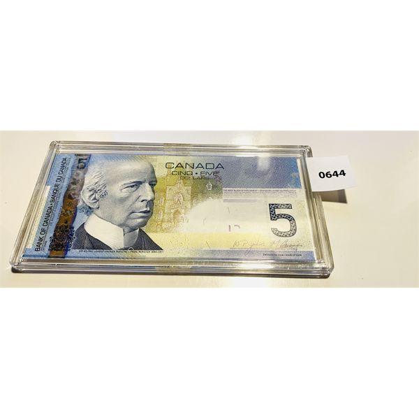 2001 CND FIVE DOLLAR BILL - UNCIRCULATED