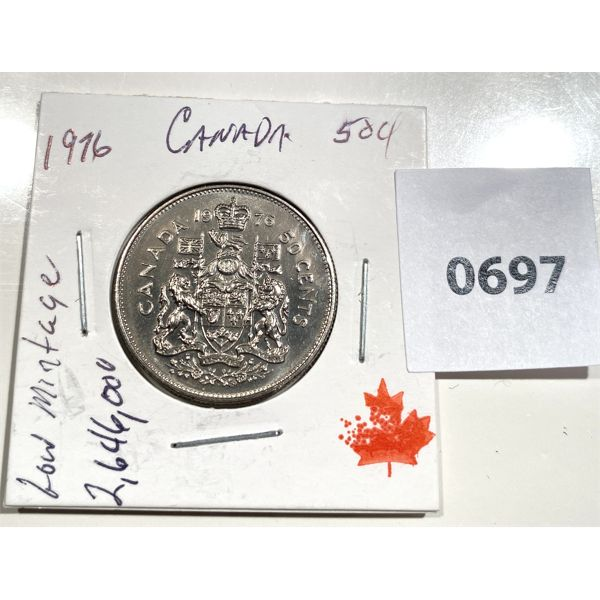 1976 CND 50 CENT COIN - MS 64