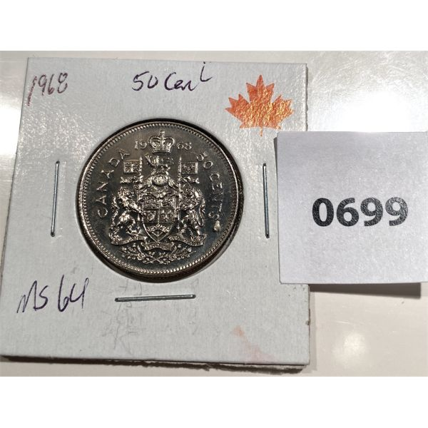1968 CND 50 CENT COIN - MS 64