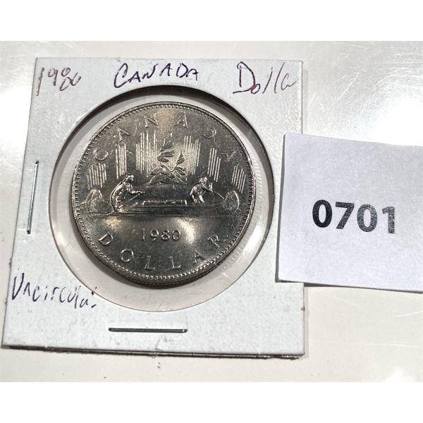 1980 CND ONE DOLLAR COIN - INC