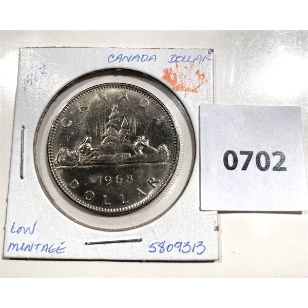 1968 CND ONE DOLLAR COIN - MS