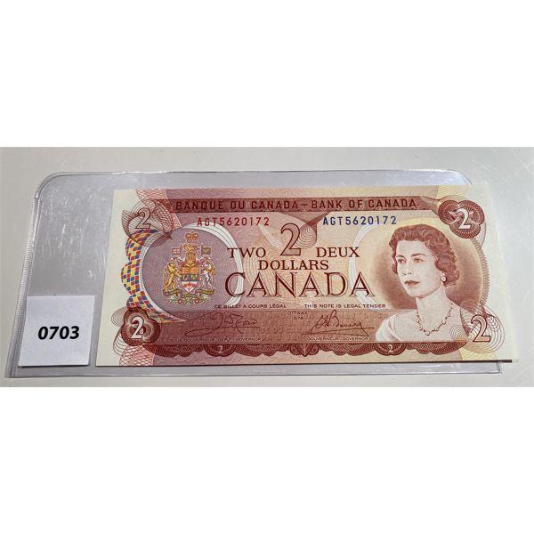 1974 CND TWO DOLLAR BILL - C/B GEM INC 64 - CRISP