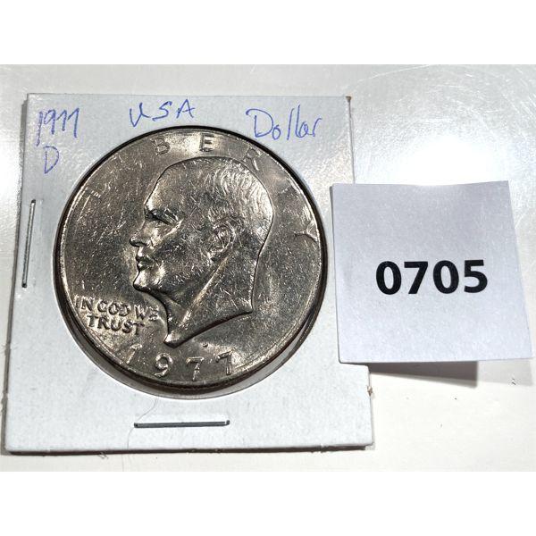 1977 D USA EISENHOWER ONE DOLLAR COIN - MS 64