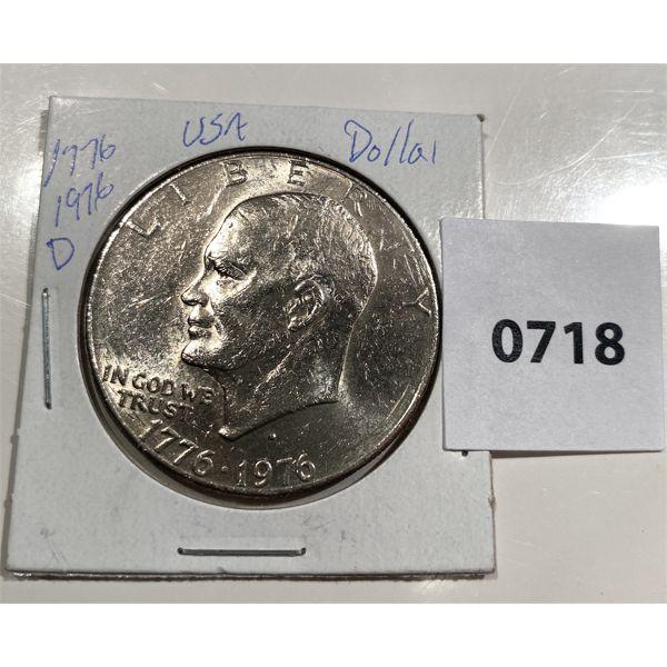 1776-1976 D EISENHOWER ONE DOLLAR COMMEMORATIVE COIN