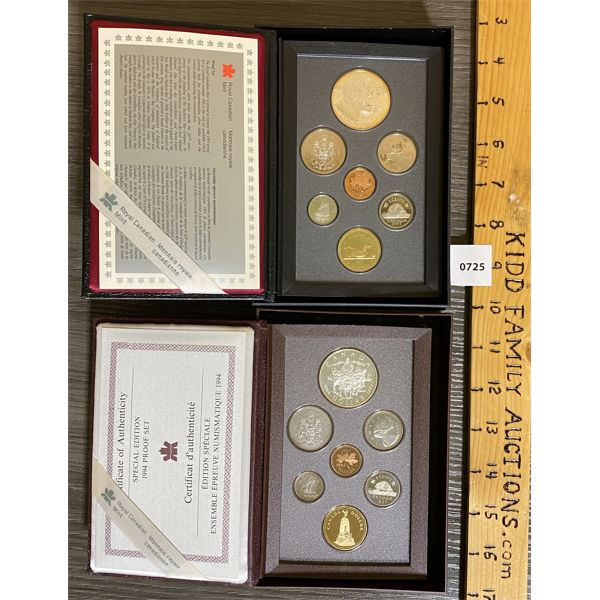 LOT OF 2 - CND 1994 AND 1995 PROOF SETS