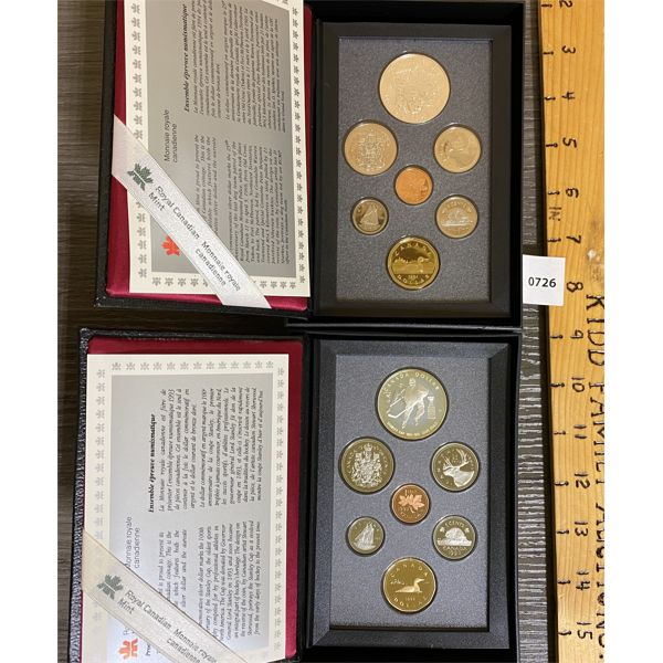 LOT OF 2 - CND 1993 AND 1994 PROOF SETS