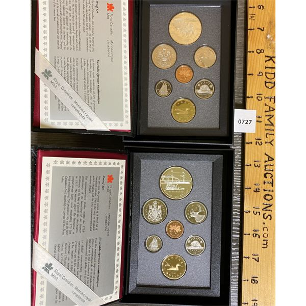 LOT OF 2 - CND 1991 AND 1992 PROOF SETS