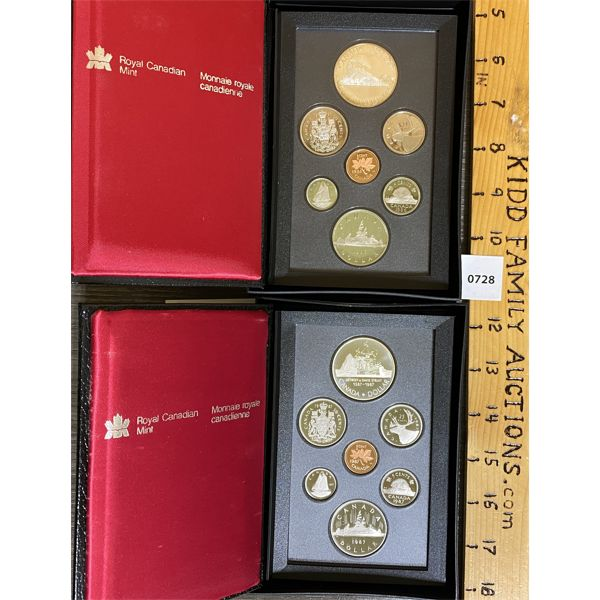 LOT OF 2 - CND 1986 AND 1987 PROOF SETS