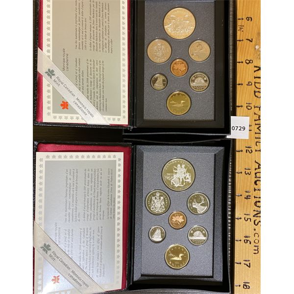 LOT OF 2 - CND 1989 AND 1990 PROOF SETS