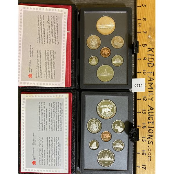 LOT OF 2 - CND 1984 AND 1985 PROOF SETS