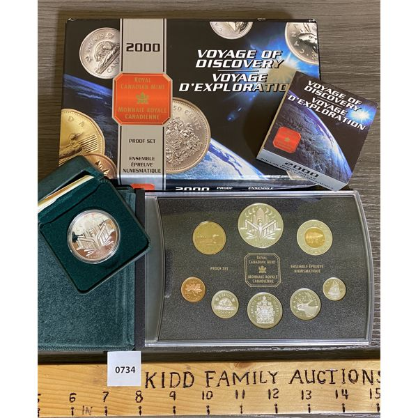 LOT OF 2 - CND 2000 PROOF SET AND SILVER DOLLAR