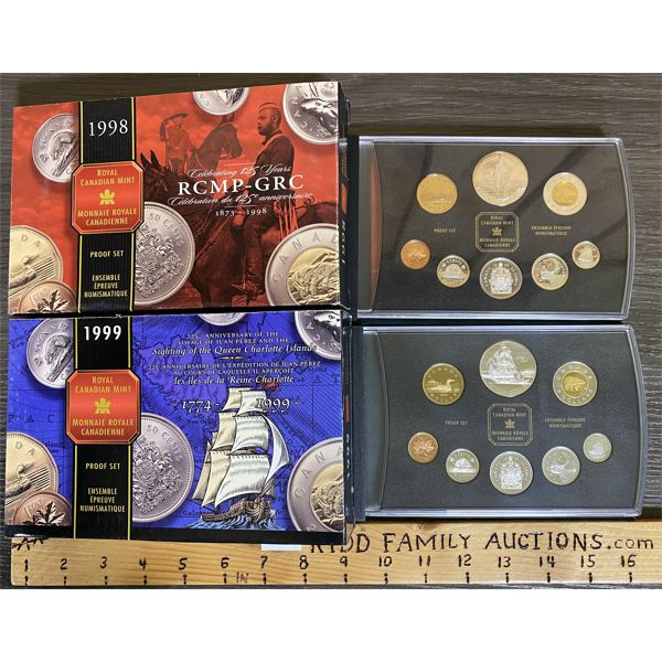 LOT OF 2 - CND 1998 AND 1999 PROOF SETS