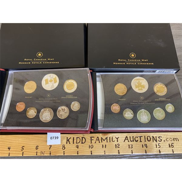LOT OF 2 - CDN 2005 AND 2006 PROOF SETS