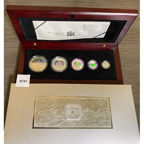 2003 SILVER MAPLE LEAF HOLOGRAM SET