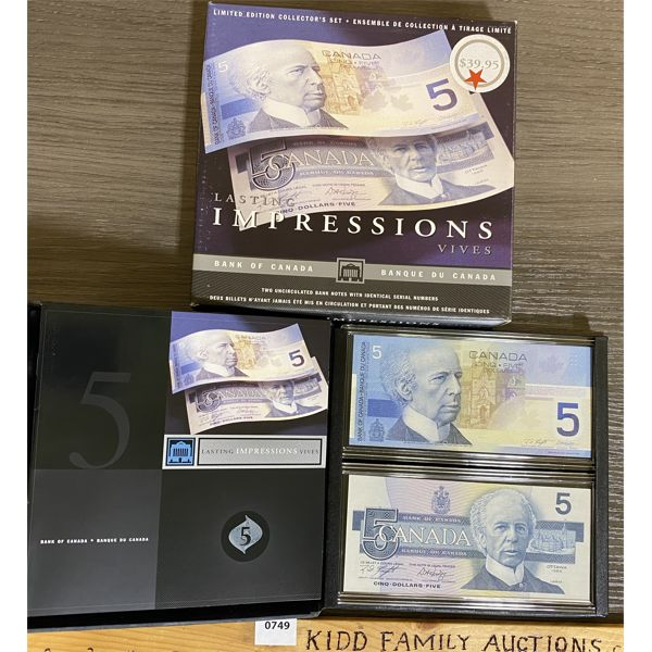 LASTING IMPRESSIONS CDN $5 BANKNOTE SET