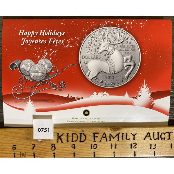 2012 HAPPY HOLIDAYS $20 COIN SET