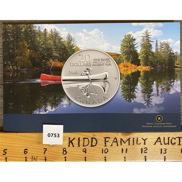 2011 CANOE $20 COIN SET