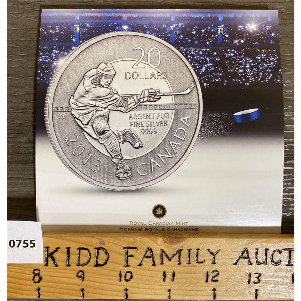 2013 $20 HOCKEY SILVER COIN SET
