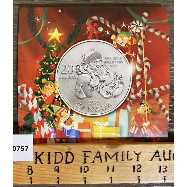 2013 $20 SANTA SILVER COIN SET
