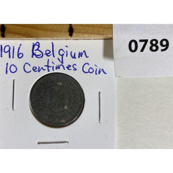 BELGIUM 1916 10 CENTIMES COIN