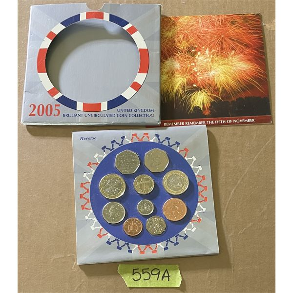 2005 UNITED KINGDOM UNCIRCULATED COIN SET