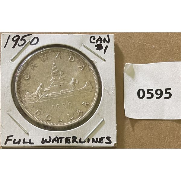 1950 CND SILVER DOLLAR - FULL WATERLINES