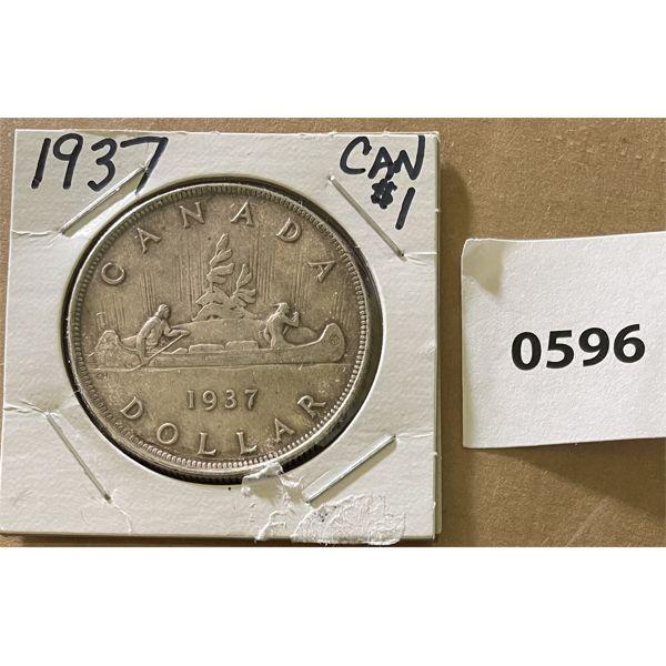 1937 CDN SILVER DOLLAR