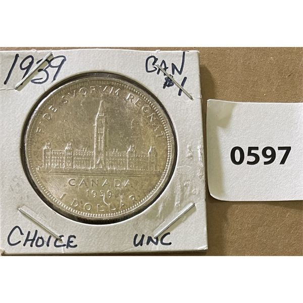 1939 CDN SILVER DOLLAR - UNCIRCULATED