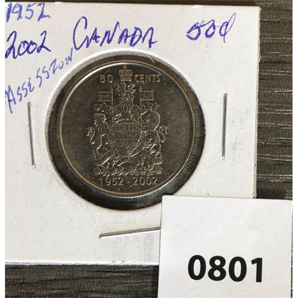 1952-2002 ASCENSION CDN 50 CENT PIECE