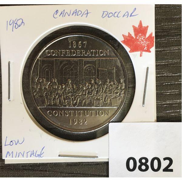 1867-1982 CDN CONFEDERATION DOLLAR MS 64 FROM MINT ROLL
