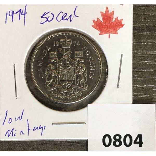 1974 CDN FIFTY CENT PIECE