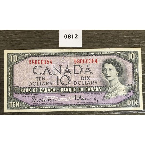 1954 $10 CDN BANKNOTE