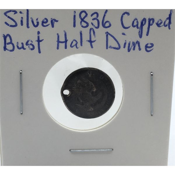 SILVER 1836 CAPPED BUST HALF DIME