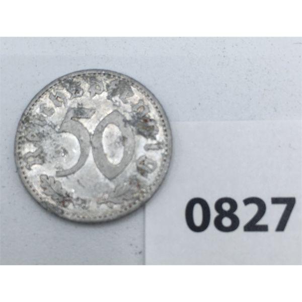 1935 GERMAN 50 PFENNING COIN