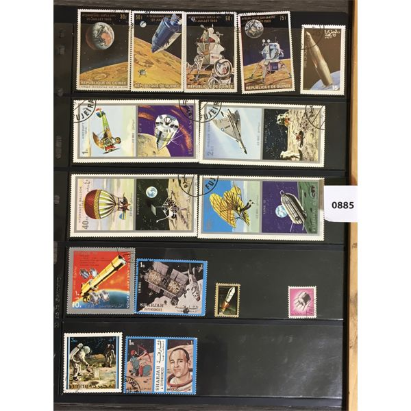 QTY OF COLLECTIBLE WORLD SPACE EXPLORATION STAMPS