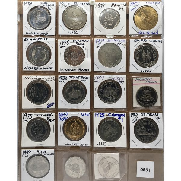 LOT OF 19 - TOKENS - MANY UNCIRCULATED