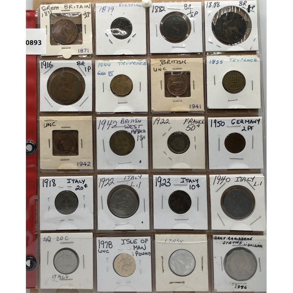 LOT OF 20 - BRITISH AND WORLD COINS