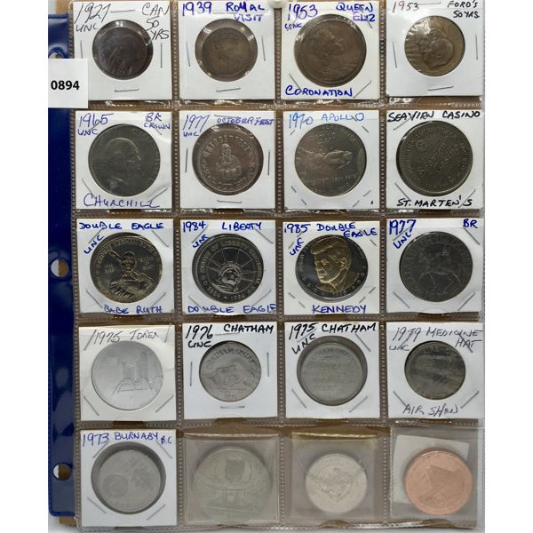LOT OF 20 - ANTIQUE TOKENS