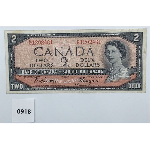 1954 CANADA BEATTIE - COYNE $2 BILL