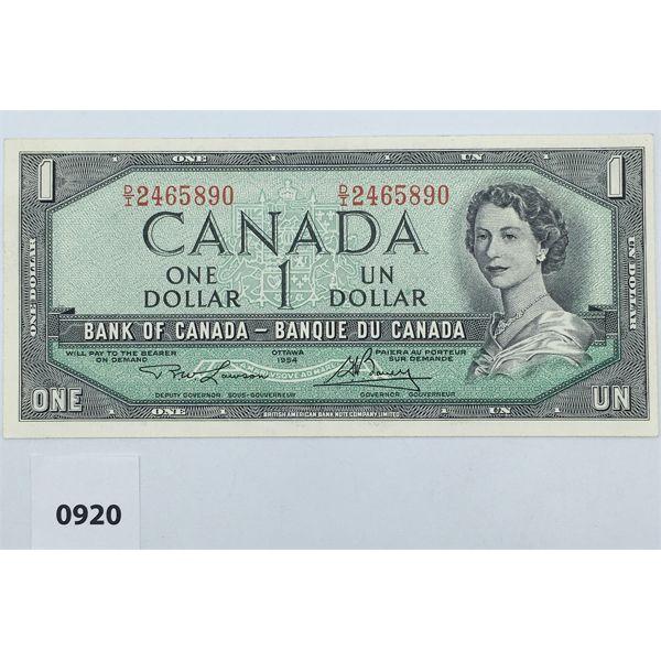 1954 CANADA $1 BILL - UNCIRCULATED
