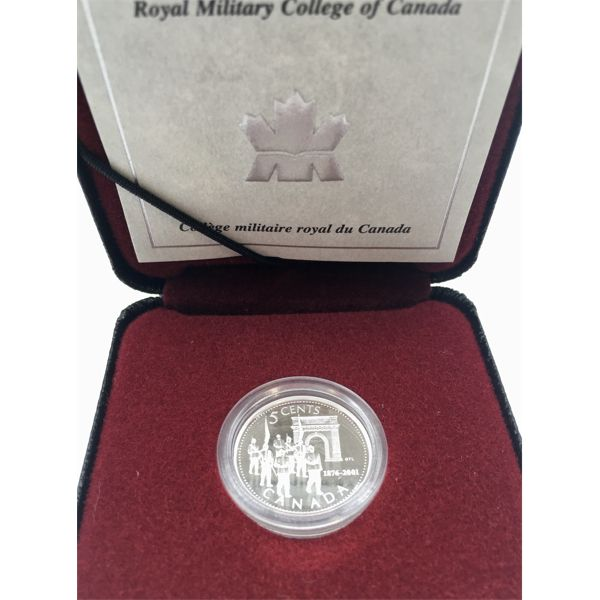 2001 MINT STERLING NICKEL - 125TH ANNIVERSARY ROYAL MILITARY COLLEGE