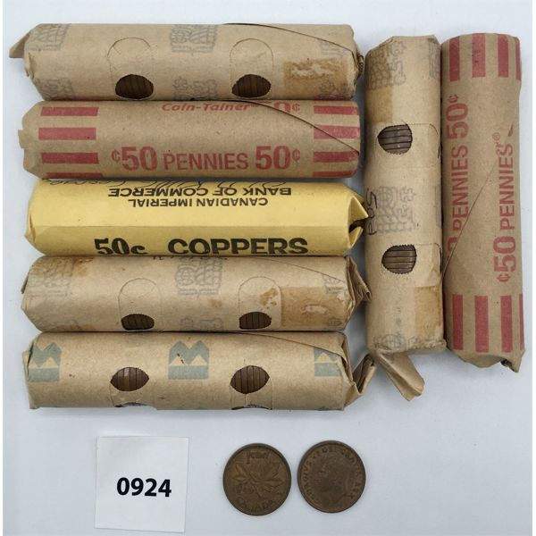 LOT OF 7 - ROLLS OF KING GEORGE PENNIES