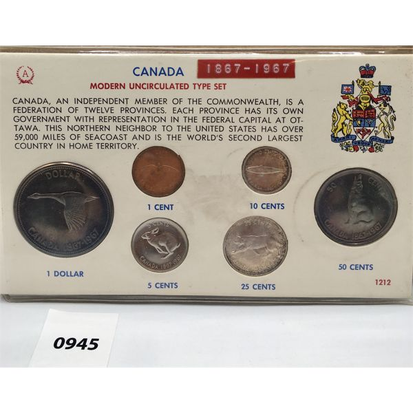 1967 RCM CENTENNIAL SET - UNCIRCULATED